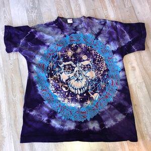 Purple Tie Die Deadhead Shirt unisex Size XL